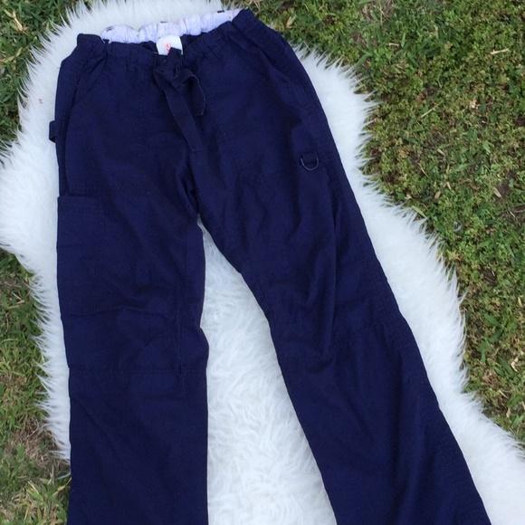 0022a1e9e8e koi Pants | By Kathy Peterson Navy Blue Scrub Sz Xs | Poshmark